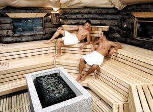 Saunieren in der Kelo-Sauna